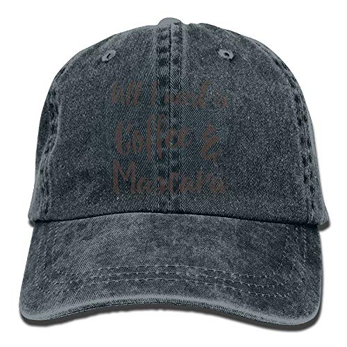 Cupsbags All I Need is Coffee Mascara Adjustable Cotton Hat