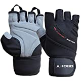 Kobo WTG-44-SMALL Weight Lifting Gym Gloves Hand Protector for Fitness Trainingsmall (Multi Colour)