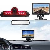 Dynavsal Transportador VAN Cámara de inversión de pantalla LCD + monitor del coche de 7 pulgadas TFT Negro