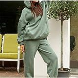 EWDF Caliente Casos Casos Traje DE Mujeres DE Mujeres Ropa Suelta cómoda con Capucha con Capucha para Mujer Ropa Deportiva 8 Colores de Yoga Desgaste para Las Mujeres (Color : Green, Size : X-Large)