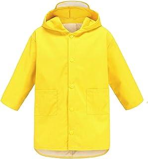 Ragazzi e Ragazze Pioggia Complessivamente con Cappuccio Giacca e Pantaloni Abbigliamento da esterno WYTbaby Bambini Tuta Impermeabile Set Abbigliamento sportivo