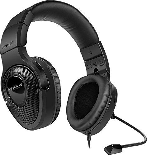 Speedlink MEDUSA XE Stereo Headset (Kopfhörer mit Mikrofon, 3,5 mm, faltbar, Kabelfernbedienung) schwarz