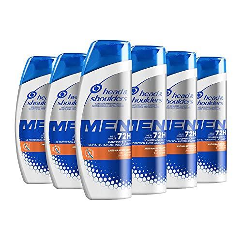 Head & Shoulders Men Anti-Haarverlust Anti-Schuppen Shampoo, 6er Pack (6 x 250 ml), Mit Koffein, Shampoo gegen Schuppen Und Trockene Kopfhaut, 72 Stunden Schutz Vor Schuppen, Juckreiz Und Trockenheit