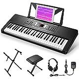 eastar ek-54a 54 tasto tastiera musicale di pianoforte kit, elettronica pianola con supporto tastiera/panca pianoforte/cuffie/adesivo nota tastiera/alimentazione, pianoforte digitale per principianti