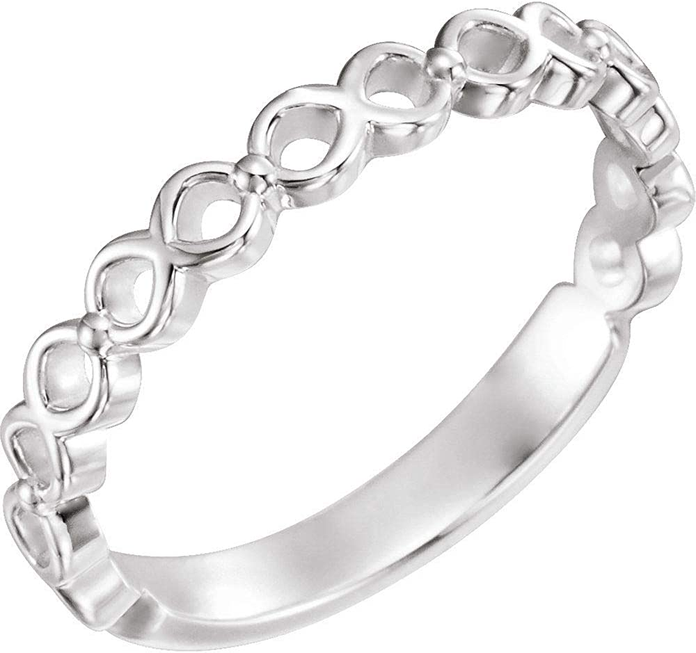 Stackable Wedding Anniversary Ring Band (Width = 3mm)