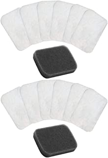 Iusun 2PC Reusable Filter 12PC Disposable Filters Replacement Parts Spare Kits For DeVilb-iss DV54/55/56/57 Machine Vacuum Cleaner Sweeping Robot Accessories Set (A)