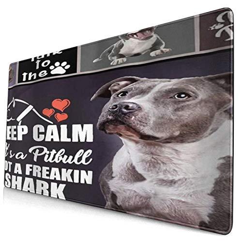 HUAYEXI Alfombrilla Gaming,Mantenga la Calma,no es un Maldito tiburón,con Base de Goma Antideslizante,750×400×3mm