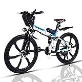 VIVI Bicicleta Electrica Plegable 250W Bicicleta Eléctrica Montaña, Bicicleta Montaña Adulto Bicicleta Electrica Plegable con Rueda Integrada de 26', Batería de 8 Ah, 25 km/h Velocidad MÁX