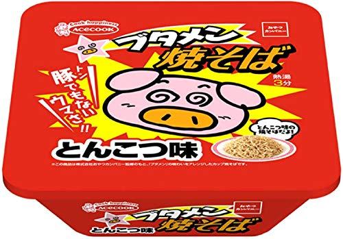 エースコック ブタメン 焼そば とんこつ味 X1箱(12入)