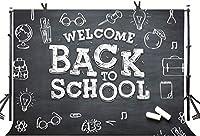 学校に戻る背景9x6ftブラック黒板チョーク卒業シーズンスタートシーズン学生ユースカレッジパーティー写真背景YouTube写真の好意スタジオプロップカスタマイズ356