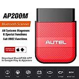Autel AP200M Scanner OBD2 Bluetooth, Outil Diagnostic Auto de Niveau OE pour Tous les Systèmes, 6 Services de Maintenance, AP200 Simplifié, 1 An d'Utilisation Gratuite