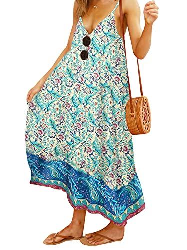 Eledobby Vestido Feminino Floral Com Decote Em V Manga Curta Boho Moda Minivestido Roupas Elegantes Para Festa Verão Amarelo GG