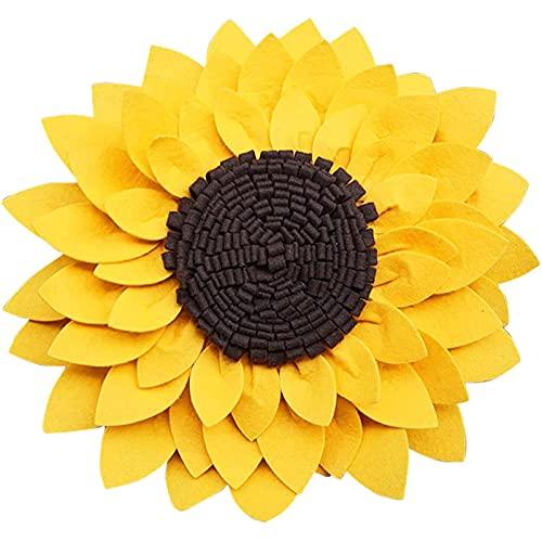 Cojín de suelo de flores 3D cojín de asiento y diseño de girasol, cojines decorativos de felpa, para decoración de la habitación del hogar, para una lectura