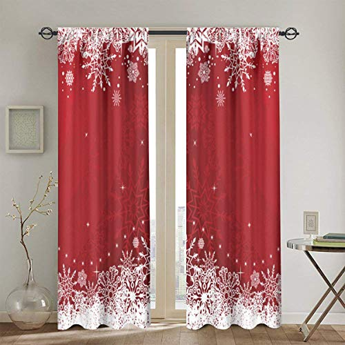 DIYAB Cortinas, Fondo de Navidad o Año Nuevo para el diseño, Cortinas de la Ventana del Dormitorio de la Sala de...
