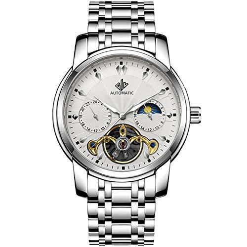 Relojes para Hombre 2020 Reloj mecánico a Prueba de Agua de Lujo Hombres Reloj automático de Acero Inoxidable para Hombre Esqueleto de Moda