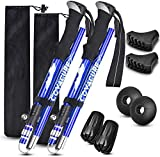 COVACURE Nordic Walking Trekking Poles - Hiking Sticks/Walking Poles with Antishock and Quick