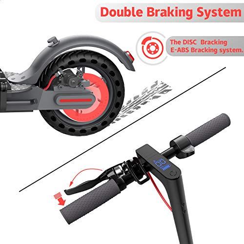 GeekMe Elektroroller abziehbarer Sitz 8,5 Zoll Reifen City Scooter Bis zu 25 km / h   Faltbar Elektroscooter mit LCD-Anzeige  7, 5A Lithium Akku   Maximale Belastung 120 kg Für Erwachsene - 6