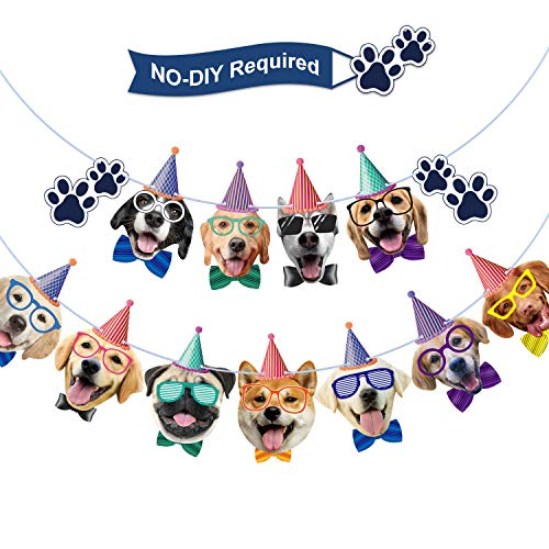 Dog Birthday Banner Birthday Garland Dog Theme Party Bunting Decoration Baby Shower Party Supplies (Dog)