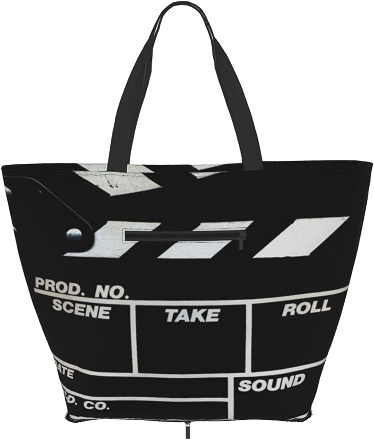 Shoulder Tote Bag Retro Year-end annual account Black Max 47% OFF Movie S Handle Purse Top Clapboard