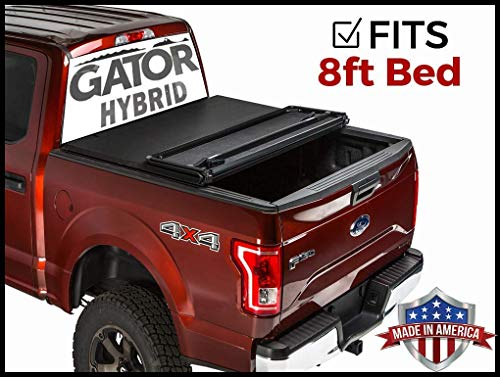 Gator Hybrid Hard Folding Fits 2015 2019 Ford F150 8 Ft Bed Only Hard W Soft Looks Tonneau Truck Bed Cover Ghf0337 Made In The Usa Buy Online In Botswana At Desertcart