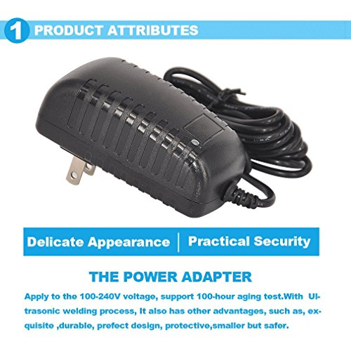 TMEZON 12 Volt 2A Power Adapter Supply AC to DC 2.1mm X 5.5mm Plug 12v 2 Amp Power Supply Wall Plug Extra Long 8 Foot Cord