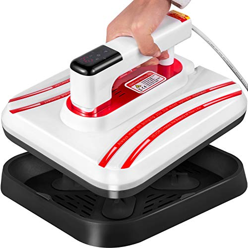 VEVOR Portable Heat Press 12x10 Inch Easy Press 800W Mini Heat Press Three Adjustable Modes Automatic Heat Press Machine for T Shirts Bags and Small HTV Vinyl Projects(Red)