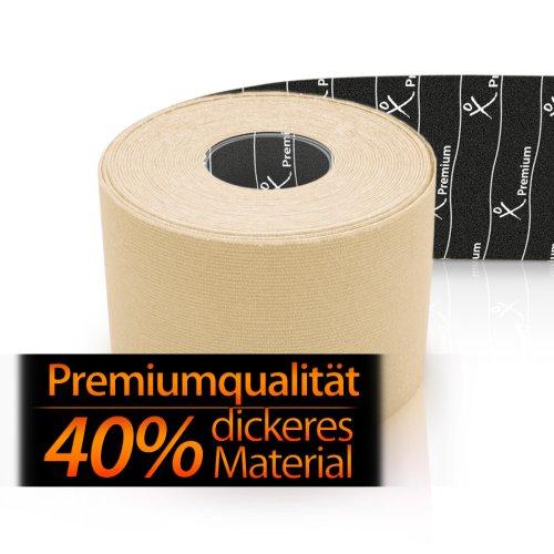 Gatapex Premium Kinesiologie-Tape 5 m x 5cm in Elfenbein, Elfenbein