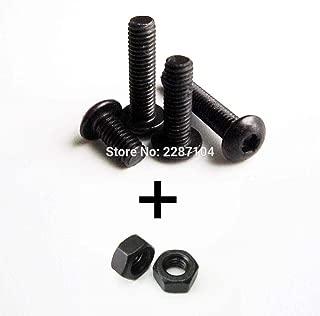 Ochoos 25 Sets Black 10.9 Class Steel Metric Threaded M2 M3 Mushroom Button Head Hex Socket Allen Screw Bolt Length 4-50mm with Nut - (Dimensions: M2x16mm with M2nut)