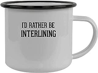 I'd Rather Be INTERLINING - Stainless Steel 12oz Camping Mug, Black
