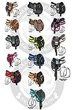 Deen, Enterprises Sillines de caballo inglés FREEMAX y cincha, correas de piel, estribo de aluminio, tamaño 45,72 cm asiento (asiento de 14,5 pulgadas), color beige y marrón