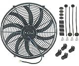 American Volt ventilador eléctrico suelto, 40,6 cm, 12v, refrigeración de radiador de coche, motor 120W, 2500CFM