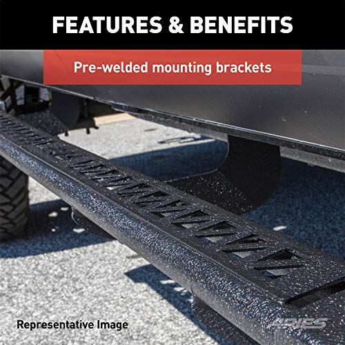 ARIES 2074141 Black Steel Rocker Step Guard Running Boards 3' for Select Nissan Titan, XD