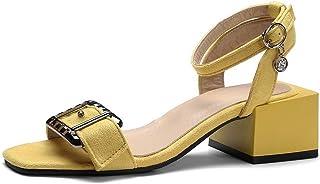 BalaMasa Womens ASL06342 Pu Block Heels