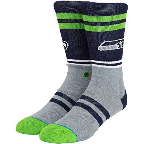 Stance NFL Seattle Seahawks Logo Socken (43 EU - 46 EU, Navy)
