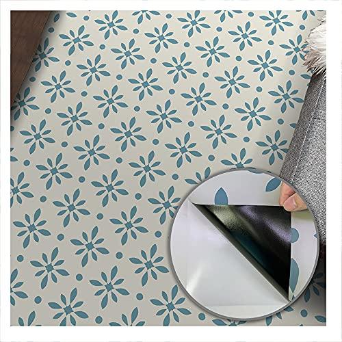 Geometry 5 Autoadhesivo Adhesivo para baldosas de suelo, resistente al agua a prueba de aceite, zócalo de fácil limpieza utilizado para el suelo de la sala de estar de 3 m de largo。