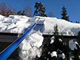 Snow Roof Rake by Avalanche! Original 750 with Slide Material: Easy Snow Removal for Metal, Cedar Shake, Tile, Architectural Shingled Roofs and Solar Panels. 17 Inch Wide, 16 Feet Long, 3 Inch Wheels