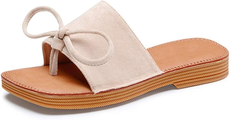 Ailj Women's Summer Sandals, Casual Non-Slip Flat Sandals Cute Bow Fashion Outdoor Women's Slippers 2 Colour