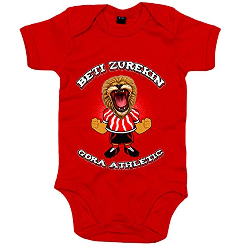 Body bebé Athletic Bilbao fútbol Beti zurekin - Rojo, 6-12 meses