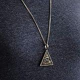 freemason illuminati Vintage silver Pendant Necklace handmade big gift masonic