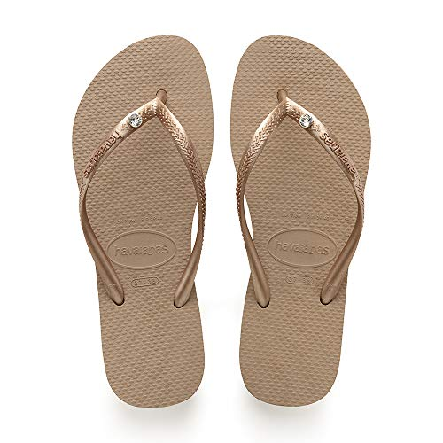 Havaianas Slim Crystal Glamour Sw, Tongs Femme, Or...