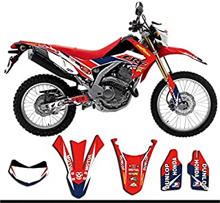 Customized Number Gloss Team GRAPHICS&BACKGROUNDS DECAL STICKER for Honda CRF250L 2010 2011 2012 2013 2014 2015 2016 CRF 250L