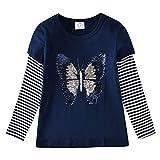 VIKITA Manga Larga Algodón Camisetas T-Shirt Niñas L5760 7T