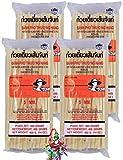 yoaxia ® - 4er Pack - [ 4x 400g ] FARMER 5mm Reisnudeln, Straight, Banh Pho / Bandnudeln / Rice...