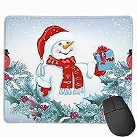 メリークリスマス雪 マウスパッド 25x30cm レーザー&光学マウス対応 防水/洗える/滑り止め 中型 ブラック
