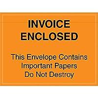 Top Pack Supply Tape LogicImportant Papers Enclosed Envelopes 4 1/2 x 6 Orange (Pack of 1000) [並行輸入品]
