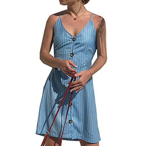 Taigood Vestito Donna Estate V Senza Mini Vestito Stampa Beach Dress Elegante Casual T-Shirts Vestito