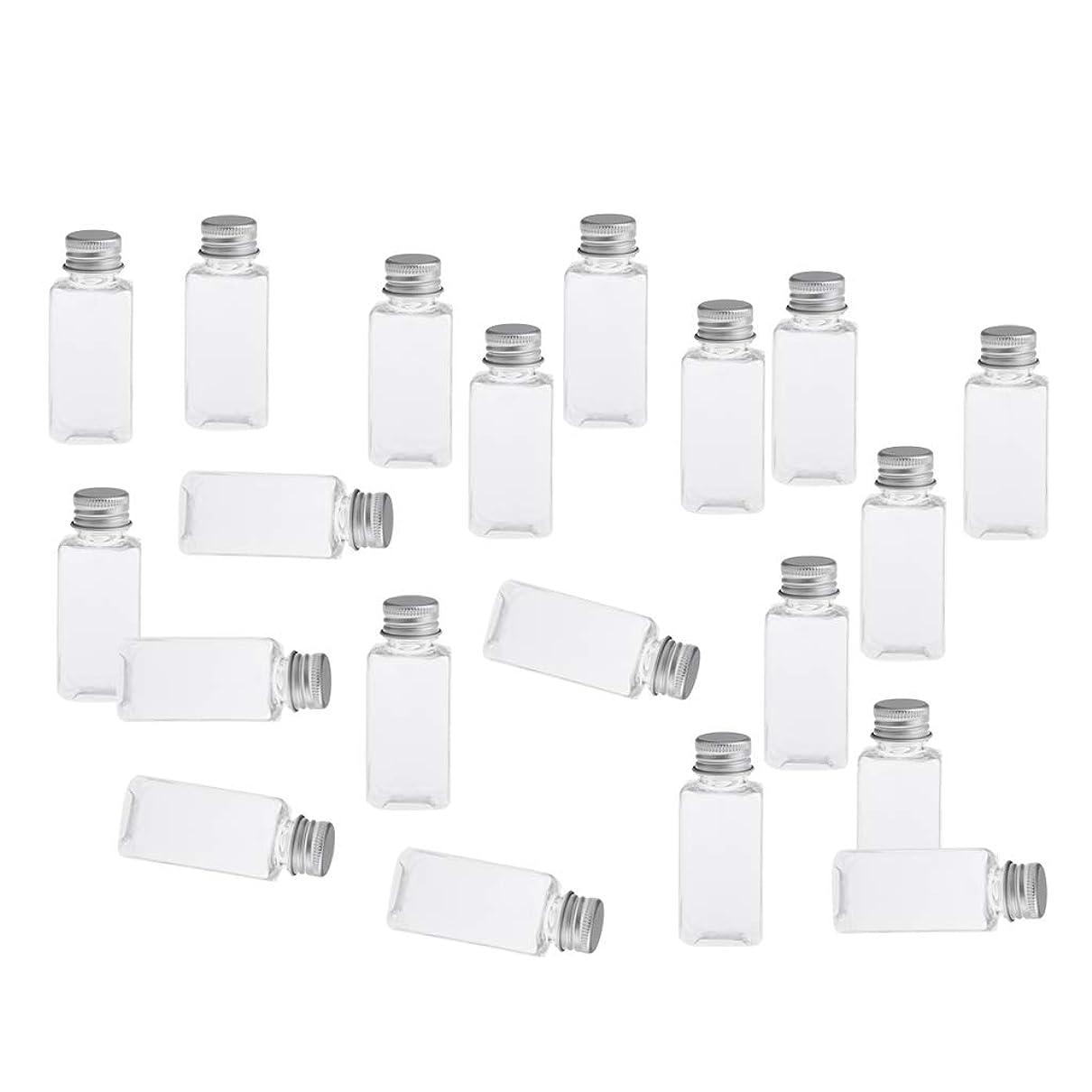 SM SunniMix 全8色 PETボトル 空のボトル 小分け用 化粧品 香水 エッセンシャルオイル 漏れ防止 約20個 - クリアシルバー