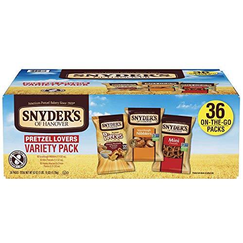 Snyder#039s of Hanover Pretzel Lovers 1Variety Pack 36 Pack