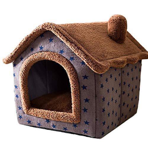 Casa per Animali da Esterno Casa per Gatti Invernale Calda Villa Rimovibile E Lavabile, Casa Cuccia per Cani Hobby Casa per Animali, Cabina per Tende per Cani di Piccola Taglia Quattro Stagioni