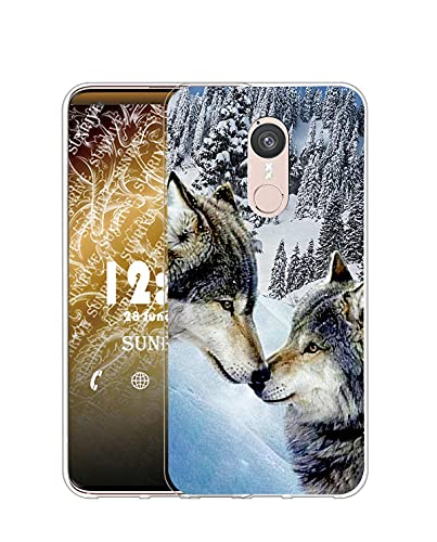 Sunrive Kompatibel mit Doogee F5 Hülle Silikon, Transparent Handyhülle Schutzhülle Etui Hülle (Q Wolf 7)+Gratis Universal Eingabestift MEHRWEG